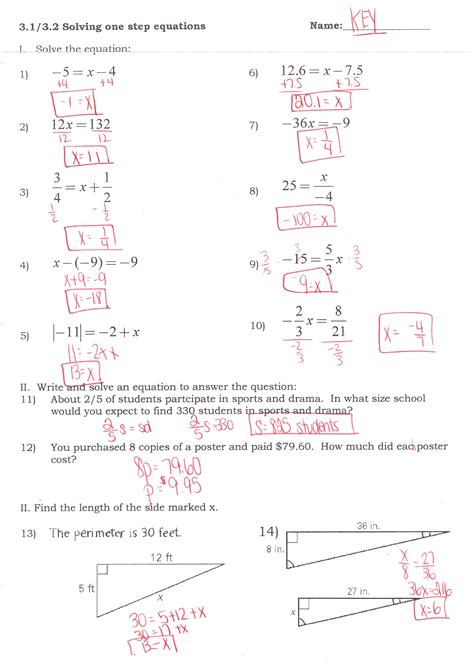 Solving Linear Equations Worksheet Answers by Image Gallery Inequalities Test With Answers
