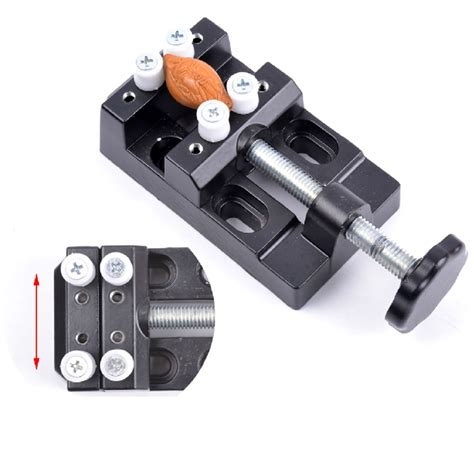 Quality Bench Vise 8 holes high quality aluminium mini bench vise tools improved cl lock vice for jewellers diy