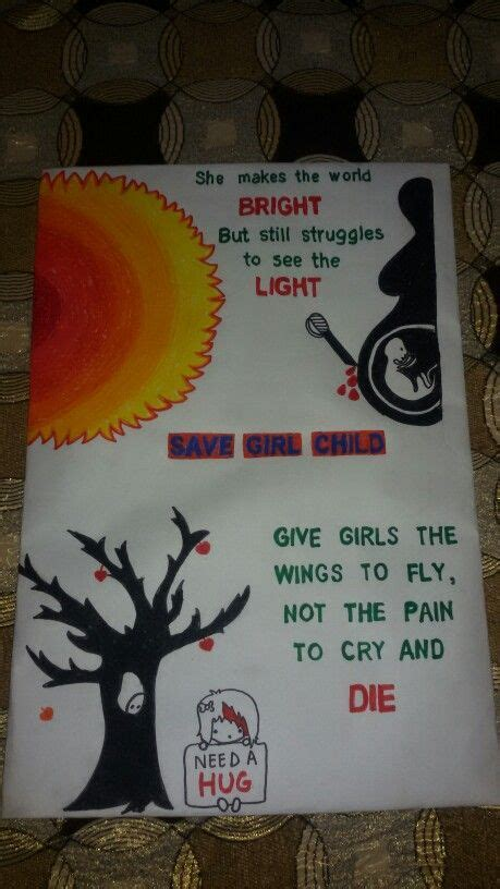 poster design handmade save girl child handmade posters and crafts pinterest