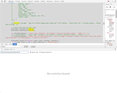 chrome developer console ctrl shift f not searching all sources in chrome s