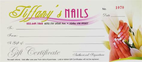 nail salon gift certificate template photo voucher template new calendar template site