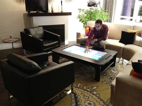 touchscreen coffee table the ultimate interactive office