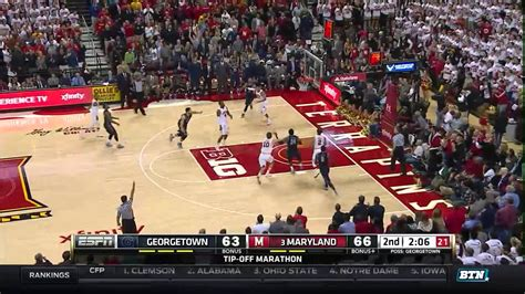 Georgetown Mba Vs Unc Mba by Georgetown At Maryland S Basketball Highlights