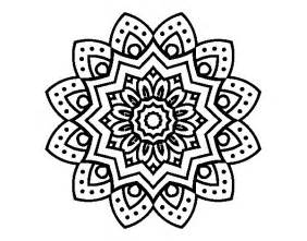 natural flower mandala coloring coloringcrew