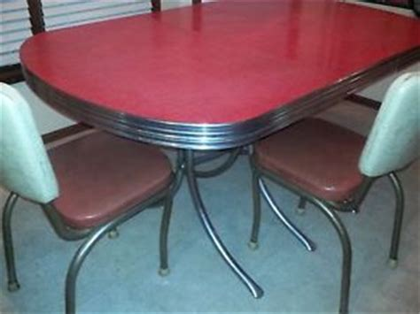 1950 kitchen table and chairs 1950 039 s retro unrestored chrome kitchen table w leaf and 2 chairs ebay