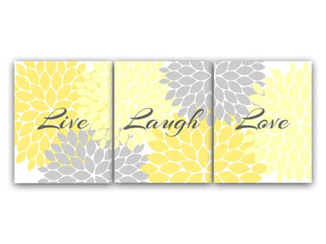 live laugh home decor canvas and prints home decor wall live laugh yellow