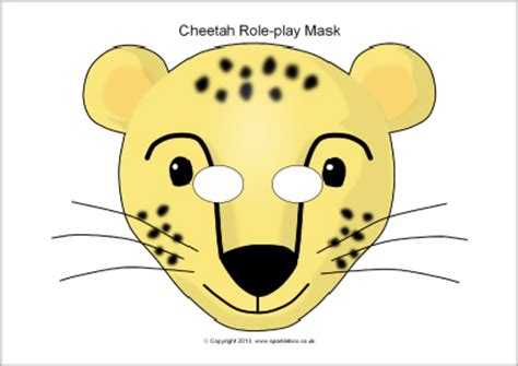 printable animal role play masks cheetah role play masks sb2139 sparklebox