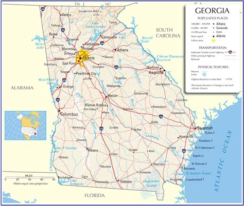 ga map map state map road map map of