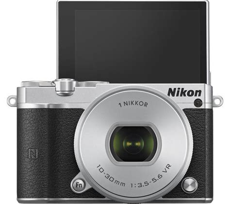 buy nikon 1 j5 mirrorless with 10 30 mm f 3 5 5 6 lens silver free delivery currys