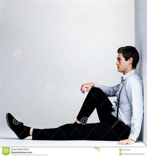 Sitting On by Sitting On The Floor Copyspace Stock Photo Image 16176746