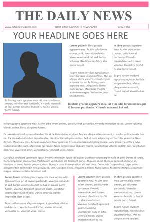 newsletter layout doc newspaper template for word newspaper template