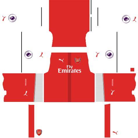 arsenal dls kit kits uniformes para fts 15 y dream league soccer kits