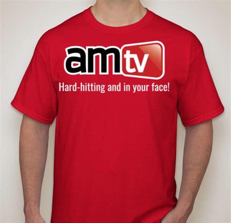 AMTV Logo Red Shirt with Hard Hitting tag