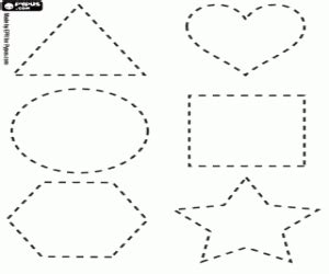 printable dotted line shapes shapes figures coloring pages printable games
