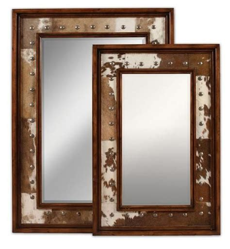 Cowhide Mirror - top 5 cow hide interiors cow cowhide furniture and