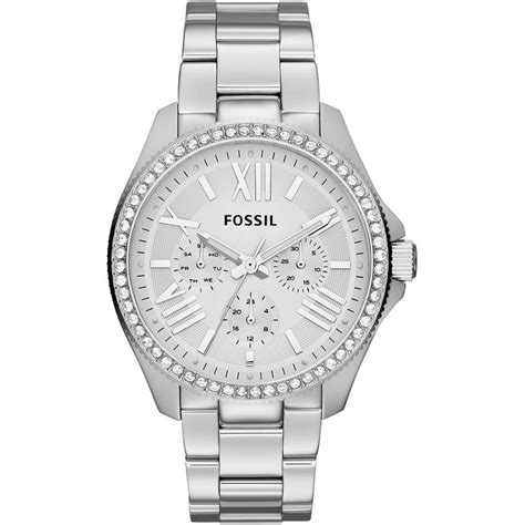 silver fossil watches
