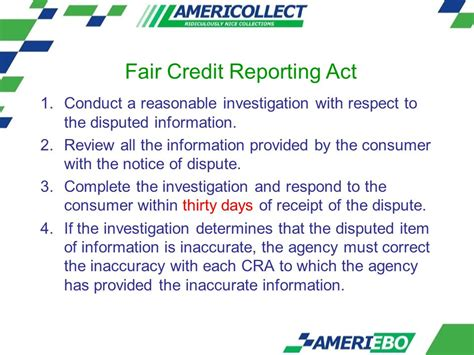 Credit Dispute Letter Fair Credit Reporting Act Identity Theft February 9th Ppt