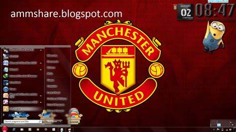 themes for windows 7 manchester united theme manchester united windows 7 amm share