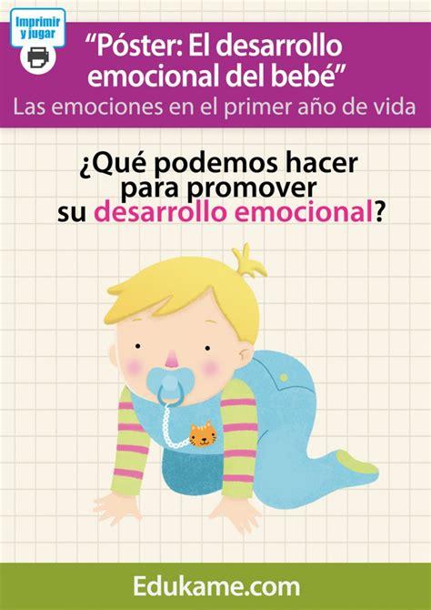 el beb emocional 8499916848 p 243 ster quot desarrollo emocional del beb 233 quot ed 250 kame