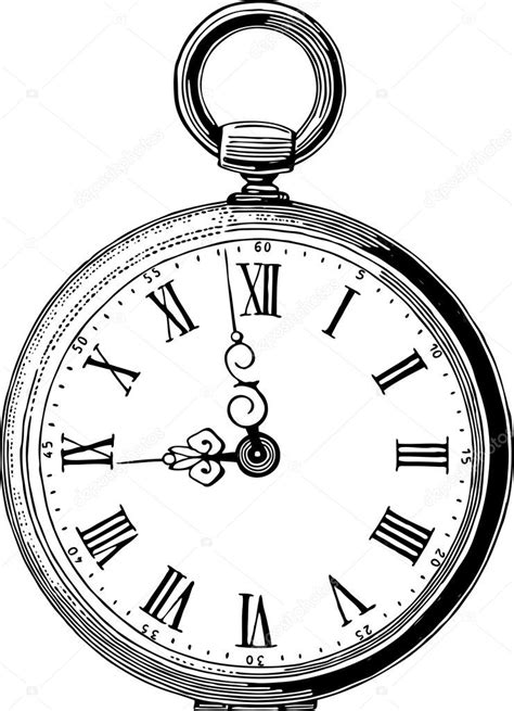 antique pocket watch stock vector 169 chronicler101 43423365