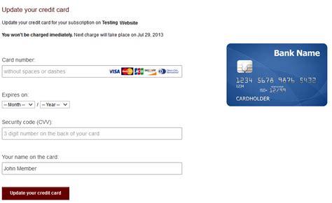 Sle Credit Card Details Updating Credit Card Information Verotel