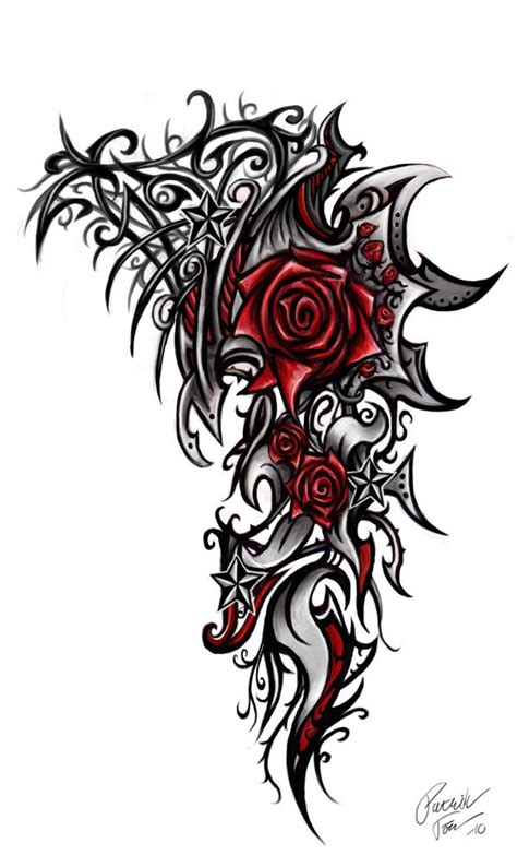 gothic black rose tattoo designs 25 best ideas about tribal tattoos on arm on