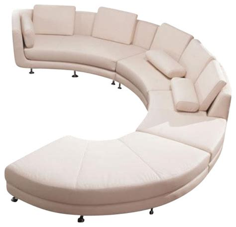 curved shaped sofa vig a94 divani casa contemporary leather curved shaped
