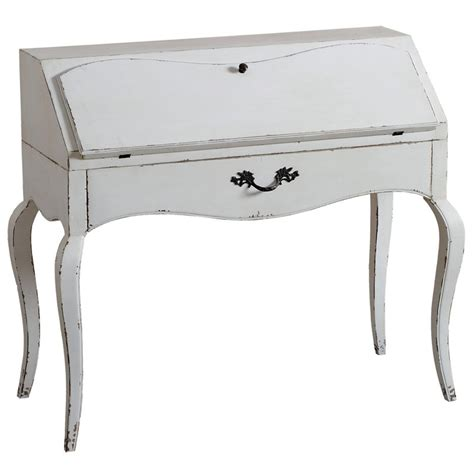 Bureau Secr 233 Taire Finition Blanc Antique Bureau Secretaire Blanc