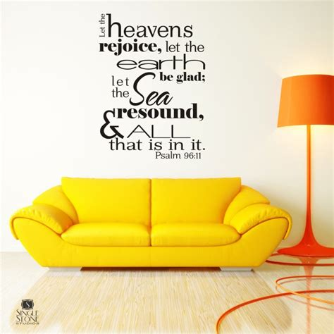 bible verse wall stickers bible verse wall decals psalm 96 11 vinyl wall stickers