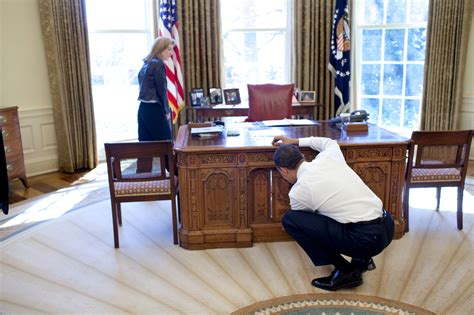 Oval Office Desks File Barack Obama With Caroline Kennedy Looking At Resolute Desk Jpg Wikimedia Commons