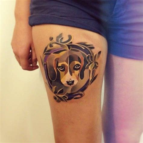 watercolor tattoo sasha unisex lovely watercolor on thigh by unisex