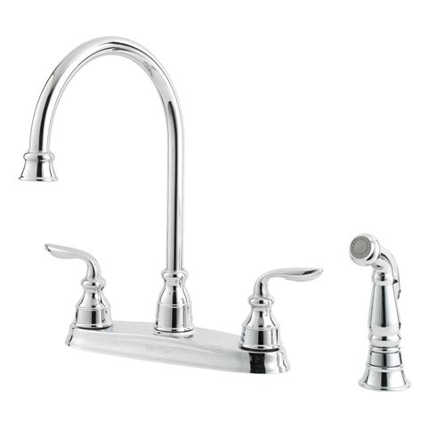 pfister f 036 4cbc polished chrome avalon kitchen faucet