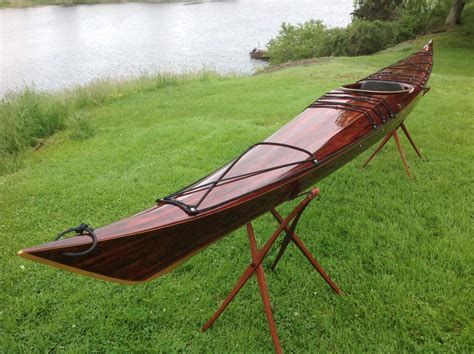 Handmade Wooden Kayak - 16 5 foot petrel guillemot kayaks small wooden boat