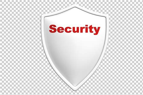 security shield 3d render png graphics creative market