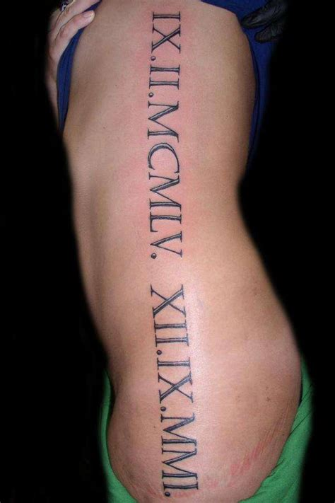 roman numeral tattoos inked up numeral tattoos