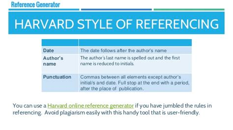 harvard bibliography generator key differences between referencing styles