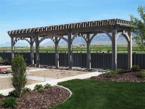 Landscape Timbers Salt Lake City Timber Frame Trellis Garden Arbor Installed For Garden