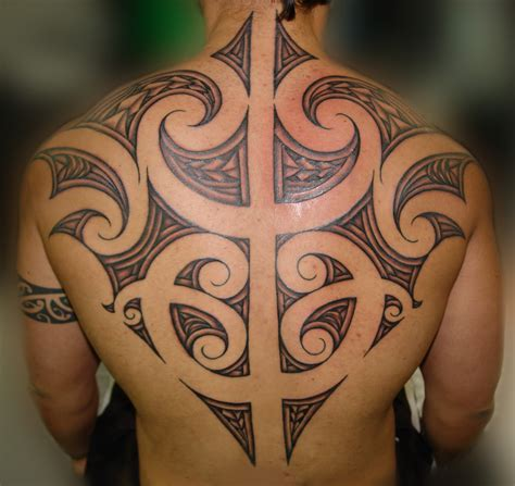 full maori tribal tattoo ideas for men on back tattoos