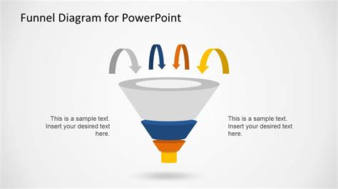 powerpoint template funnel creative funnel diagram template for powerpoint slidemodel