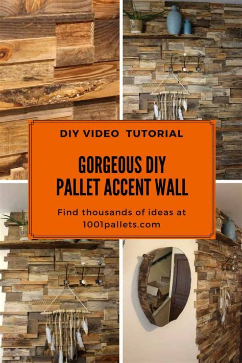 household diy projects for less than 50 install this diy pallet wall for less than 50 dollars