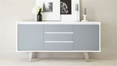 Modern Home Doors by Modern White And Grey Gloss Sideboard 2 Doors 3 Drawers