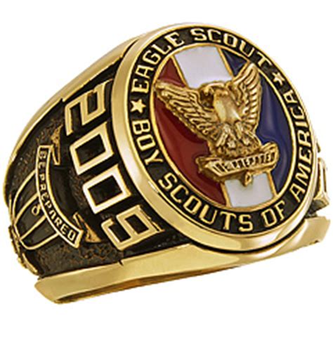 Cincin Eagle Scout Boy Scouts America Ring Band eagle scout award ring jewelers