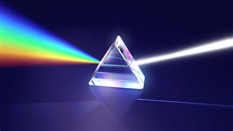 Through The Healing Glass prism separating light spectrum hd a prism bends and separates white light into the
