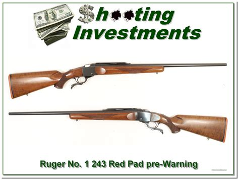 M2m 1b ruger no 1 b sporter 243 pre warning exc cond for sale