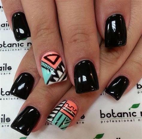 aztec pattern nail art 25 beautiful acrylic nail art designs nailkart com