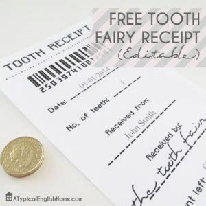 tooth receipt template editable 11 tooth traditions 24 7