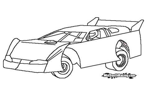 coloring pages of stock cars outlaw sprint kart clipart clipart suggest