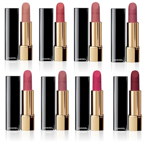 chanel lippenstift matt chanel s velvet lipsticks world