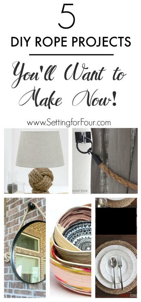 5 home decor essentials you need the diy mommy 5 diy rope projects you ll want to make now setting for