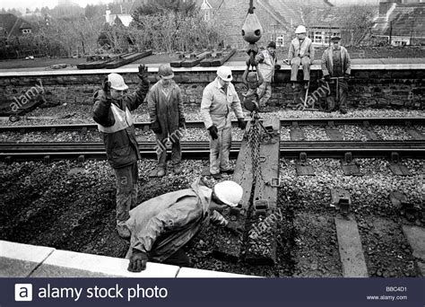 Railway Sleepers Bristol by Volunteers Removing Railway Sleepers At Bitton Station
